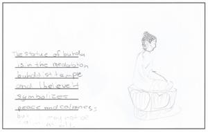 Abbys Buddha drawing